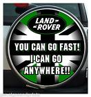 UNION JACK GREEN & BLACK YOU GO FAST WHEEL COVER STICKER 4X4 (CHOICE OF SIZES)