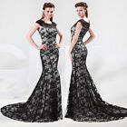 2015 Mermaid Style Applique LACE Prom Party Gown Evening Bridesmaid Long Dresses