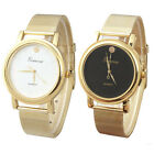 New Lady Style Gold Classic Womens Quartz Stainless Steel Wrist Watch Vogue