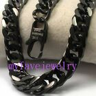 11MM Never Fade IP BLACK 316L Stainlesss Steel  Hand Polished Necklace Bracelet