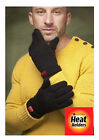 Red Label Heat Holders Mens Thermal Fleece insulated Black Gloves
