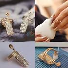 1pcs New Jewelery Women Snake Heart Nail Art Finger Ring Gold Silver Supply UK