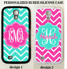 TURQUOISE HOT PINK CHEVRON PERSONALIZED MONOGRAM Case For Sa