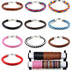 NEW Punk Faux Leather Braided Bracelet Aloy Clasp Friendship/Surf Wristband Cuff
