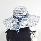 Elegant Women Girls Hollow Brim Summer Beach Sun Hat Straw Bow Bohemia Cap