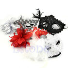 Venetian Lace Sexy Feather Ball Masquerade Mask Paillette Flower Party Eye Masks