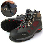 New Mens K2SAF Safety Work Boots Steel Toe Cap Snap fastener & Zipper Gray Red