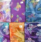 "Wonderful BATIK BUTTERFLIES 100% cotton Fabric Traditions 1 yd x 44""wide"