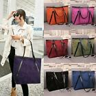 Women Shoulder Bag Purse Matte Leather Big Tote Frost Classic Zip Handbag Hobo
