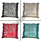 "SILVER CIRCLES CUSHION COVER CASE BLACK CREAM RED CREAM TEAL 45 x 45cm 18"" x 18"""
