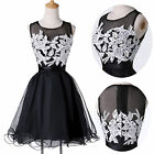 NEW Short Applique Homecoming Bridesmaid Cocktail Gowns Evening Prom Party Dress
