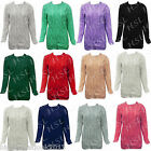 Womens Ladies Fruit of The Loom Raglan  Plain Sweater Jumper Top Pullover SS270