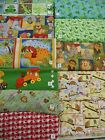 Whimsical novelty children's animal prints/panels 100% cotton fabric forest/zoo