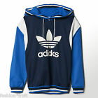 Adidas Originals Archive Hoodie Blue Logo Hooded Sweatshirt New Sizes XS S M L