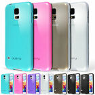 Silicone Gel TPU Case Cover and Screen Protector for Samsung Galaxy S5 Mini