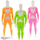 MENS FLURO TUX MORPHSUIT NEON UV TUXEDO FANCY DRESS COSTUME