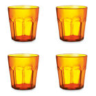 4 x 400ml PLASTIC TUMBLERS FOR JUICE AND COLD DRINKS - GLASS CUP BEAKER MUG