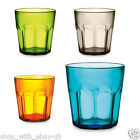 8 x 400ml PLASTIC TUMBLERS FOR JUICE AND COLD DRINKS - GLASS CUP BEAKER MUG