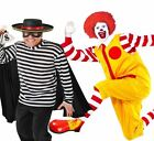 Ronald Clown Or Hamburglar Christmas Circus Fancy Dress Complete Costume