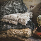 Luxury Grizzly Faux Fur Throw + Cushion Range by Bambury