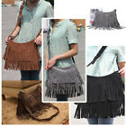 Women Girl Bag Tassel Fringe Faux Leather Shoulder Messenger Cross Body Bag 1Pc
