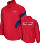 Washington Capitals Hot Jacket Men's NHL Center Ice 1/4 Zip Lightweight Hockey