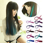 52cm Multi Colour Clip-in Straight Long Fake Synthetic Hair Extension Fashion