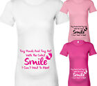 A SMILE I CAN'T WAIT TO MEET MATERNITY POEM DESIGNER MATERNITY T SHIRT TSHIRT
