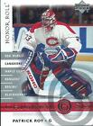 01-02 UD HONOR ROLL MONTREAL CANADIENS JERSEY - INSERTS U-PICK FROM LIST