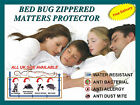 Lab Certified Anti Allergy Zipper Mattress Protector Cover  Bed Bug Encasement