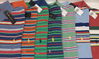 Polo Ralph Lauren Classic Mesh Striped Cotton Polo Shirt w Pony $85 7 Colors NWT