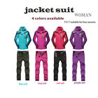 Premium New Women Outdoor Waterproof Sports Ski Climbling Jacket Pants Suit Coat
