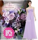 BNWT MEGAN Lilac Chiffon Prom Bridesmaid Occasion Maxi Dress UK 6 - 18