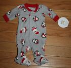 New Carter's Child of Mine Gray Fleece One Piece Santa Outfit ~Preemie & Infant