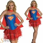 Ladies Sexy Supergirl Corset Superhero Superman Adult Fancy Dress Costume Outfit