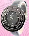 FW443D New Black Dial Black Band Round Metal Black Watchcase Women Fashion Watch