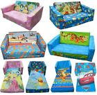 DISNEY CHARACTER CHILDRENS FLIP OUT DOUBLE FOAM SOFA SETTEE KID LOUNGER BED SEAT