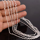 "Wholesale 5pcs 925 Sterling Silver Water Wave Chain Necklace 16-30"" Width 2MM"