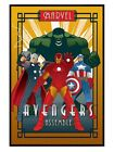 New Gloss Black Framed Marvel Deco Avengers Assemble Poster