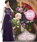 BNWT ALICE Purple Lace Chiffon Prom Evening Bridesmaid Dress UK Sizes 6 -18
