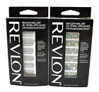2 x Revlon Nail Art 3D Jewel 18 Appliques Denim Diamonds Yellow Star Stripe