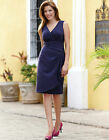 Bravissimo LADIES/WOMENS Soft Drape Dress by Pepperberry in FRENCH NAVY  (19)