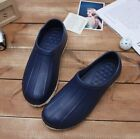 Non-Slip Navy Shoes Chef Clogs Water Oil Safety Hospital Kitchen Comfort DY777