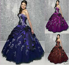 STOCK Prom Ball Gown Formal Bridesmaid Quinceanera Dresses Size 6 8 10 12 14 16
