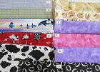 NOVELTY 100% cotton fabric farm ark animals butterflies dragonflies whale panel