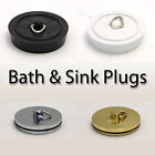 Centurion Sink Bath Shower Plug, Black White Chrome Brass - Buy 2 Get 3rd FREE