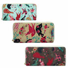 LADIES ELLA BIRD PRINT PURSES 3 COLOURS- 72722 ES