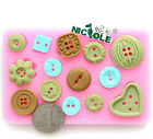 Silicone Fondant Cake Molds sugarcraft Mould buttons styles baking decorating
