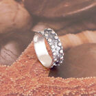 STERLING SILVER BAND NO STONE SOLID .925 /NEW SIZE J-Y JEWELLERY
