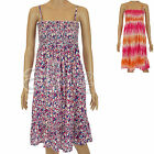 New Ladies TU 100% Cotton Beach Summer Sun Dress Casual Floral Strappy Womens